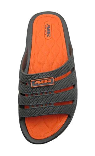 Pantofole Da Uomo Sandalo Da Spiaggia Di Colore Chiaro E Comodo Da Uomo Grigio / Arancione