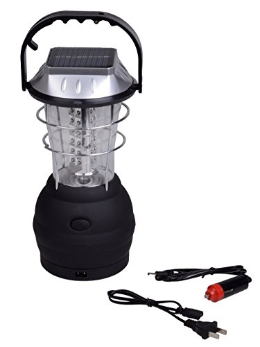 Ediors Hand Crank Solar And Dynamo Powered 36 LED Lantern Outdoor Super Bright Rechargeable Camp Camping Work Light 3 Modes