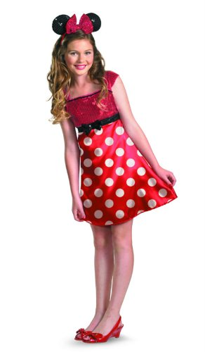 [Disney Minnie Mouse Clubhouse Tween Costume, Red/White/Black, X-Large/14-16] (Mickey Dress)