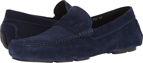 Att Starta New York Mens Mitchum Slip-on Loafer Mörkblå Mocka