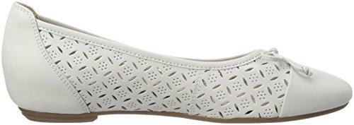 102 White Nappa Ballerine Bianco 22128 Caprice Donna YwFHXx