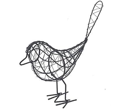 Amazon Com Metal Handmade Iron Wire Bird Animal Figurine Home