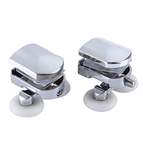 Yosoo 2PCS Sliding Shower Doors 23mm Wheel Twin Double Bottom Zinc Alloy Shower Door Rollers/Runners/Wheels
