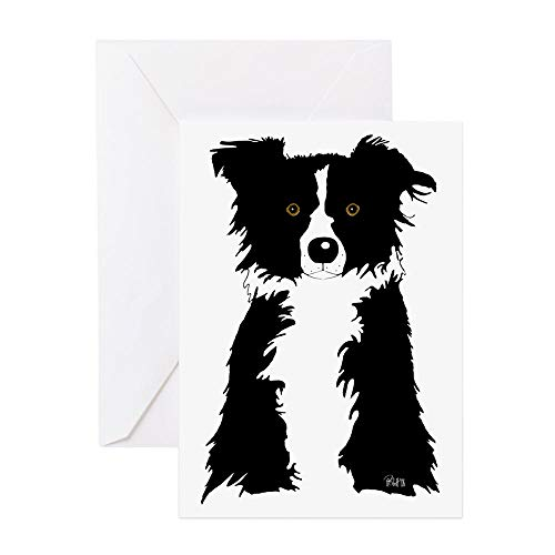 CafePress Border Collie Greeting Card (10-pack), Note Card with Blank Inside, Birthday Card Matte ()