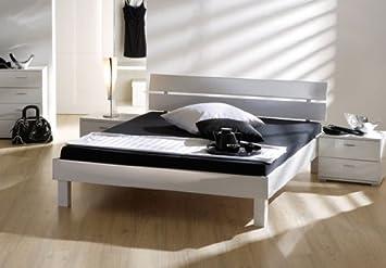 Stilbetten Bett Futonbetten Jago Hochglanz Weiss 100x200 Cm Amazon