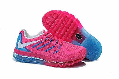 Edad Kid 2016Air Max Flyknit deportes al aire libre Running Zapatos de carretera, Niños, rosa oscuro, UK10.5=EUR28=18CM