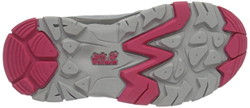 Jack Wolfskin Mtn Attack 2 Texapore K, Zapatos de Low Rise Senderismo Unisex Niños Rosa (Tropic Pink)