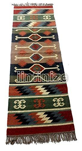 Alfombra de yoga, alfombra reversible estilo clásico rústico indio de 2 x 6 pies, alfombra de meditación, alfombra de...
