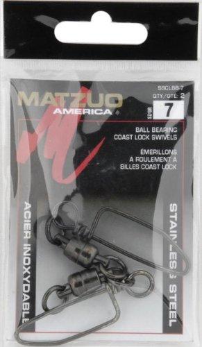 Matzuoステンレススチールボールベアリングコーストロックスイベル - 2パック B007P15RKA  Nickle-Black Finish 7