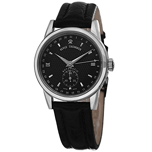 Revue Thommen Pointer Date Women's Black Dial Automatic Swiss Watch 12011.2537