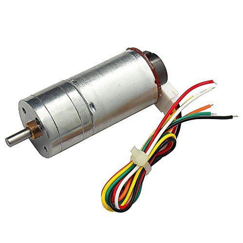 Dovewill High Torque DC 6V, 12V, 24V, 190RMP-1930RMP Encoder Gear-Box Electric Motor Replacement - Silver, DC12V 250RMP by Dovewill
