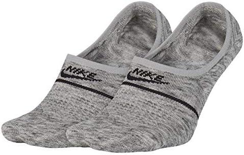Sneaker Sox Essential No-Show Socks (2 Pairs) (Grey, Women's 11.5-13 / Men's 10-11.5)