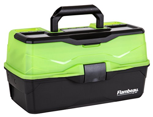 Flambeau Outdoors Frost Series 3-Tray Tackle Box, Green