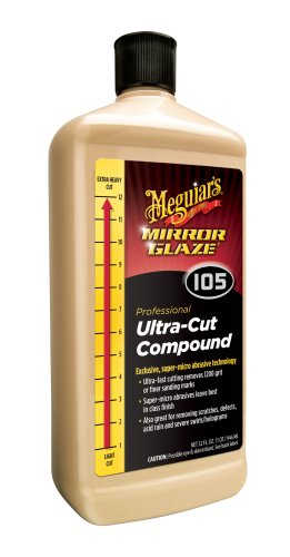 : Meguiar's Mirror Glaze Ultra-Cut Compound – Scratch Remover with Mirror-Like Finish  – M105, 32 oz