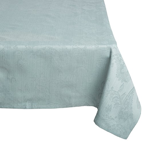 Mahogany T340T6 Paisley Jacquard Square Tablecloth, 60 by 60-Inch, Blue