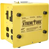 Coleman Cable 01980 X-Treme Box 01980 Portable Temporary Power Distribution Box, Converts (1) L14-30P to (8) 5-20R