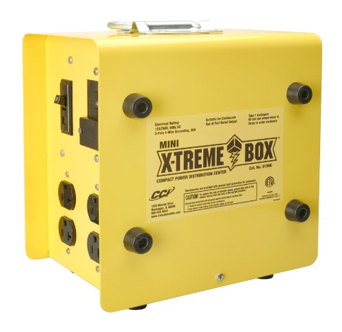 Southwire 19800102 Mini X-Treme Box Portable Temporary Power Distribution Box, Converts (1) L14-30P to (8) - Audio Cable Xtreme Interconnect