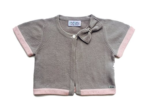 Minimains Little Girls' Pure Cashmere Bolero Cardigan With Bow 4y Grey by MINIMAINS