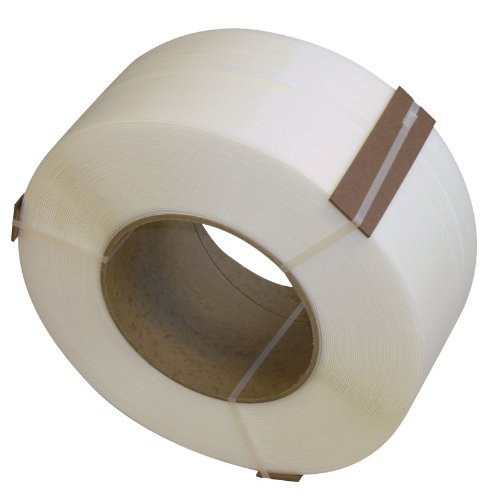 Roll Polypropylene Strapping Band 1/2 Inch width 9900' Length (White)