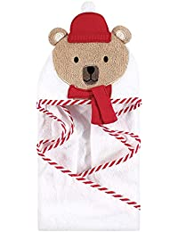 Animal Face Hooded Towel, Bear with Scarf, One Size