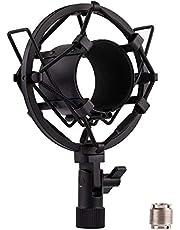 ConBwin Microphone Shock Mount Black Spider Universal Mic Shock Holder Adapter Clamp Clip Studio Condenser Anti-Vibration Holder for Diameter 46mm-53mm Microphone