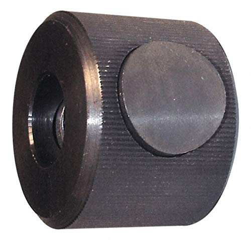 M8x1.25 Metric Coarse Thread, Black Oxide Finish, Steel Round Knurled Push Button Thumb Nut pack of 10 by Morton Machine Works