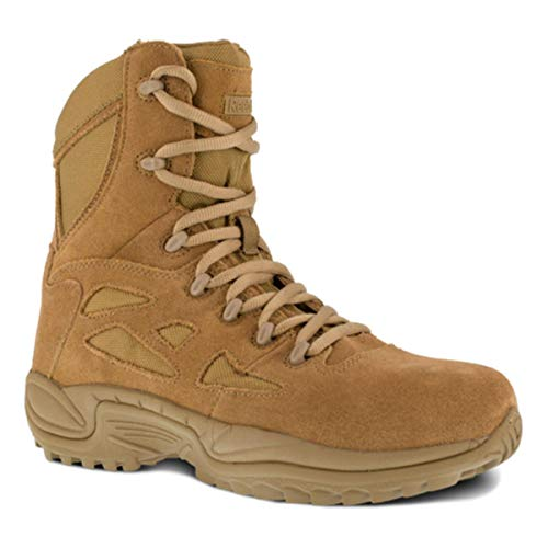 """Reebok RB8977 Mens Rapid Response RB 8"""" Tactical Military Boot, Coyote, 9.5W"""
