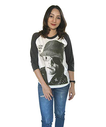 (BSK Womens Lou Reed Live Rock Concert Baseball T-Shirt 3/4 Sleeve (Large) White)