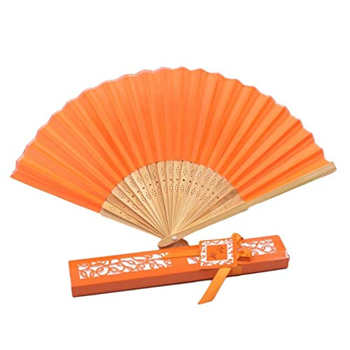 Party Favors - Elegant Folding Fan With Box Vintage Chinese Hand Event Festive Party Decoration - Puzzles Youth Educational Bridal Pencils Notebooks Airplanes Adult Glasses Toys Balls Straws De ()