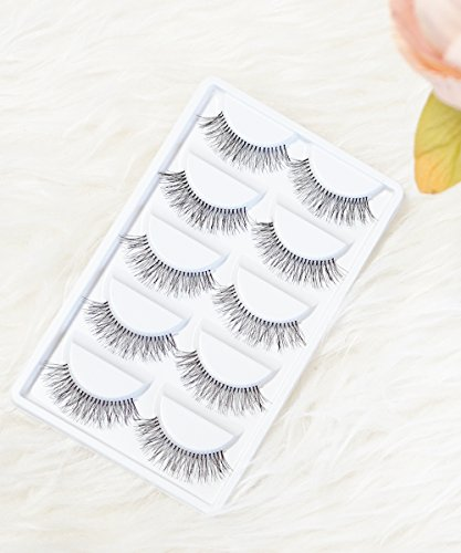 Set of 5 Wispies Natural Wispy Invisiband False Lashes by Baubles N Gems