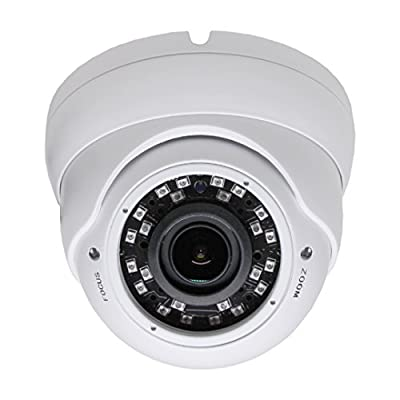 SVD HD TVI 1080P Outdoor Turret Dome 2.8-12mm Varifocal Security Camera with IR Night Vision by SecurityVideoDirect