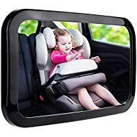 360 Degree Adjustable Baby Safety Car Mirror – Easy to Install Mirror for Clear Visual of Rear Facing Infant