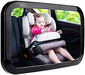 Little Archer & Co.™ 360 Degree Adjustable Baby Safety Car Mirror – Easy to Install Mirror for Clear Visual of Rear Facing Infant