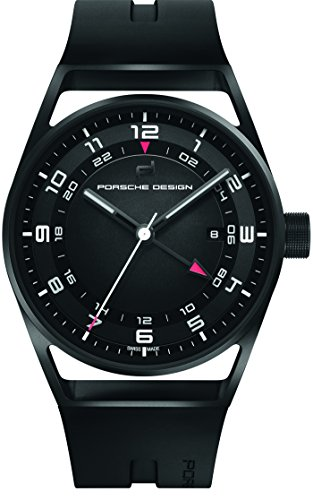 Porsche Design 1919 Automatic Watch Globetimer, Titanium, Black & Rubber