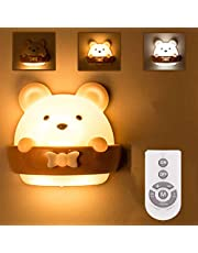 DawnTrees Bear Night Light for Kids, Baby Night Light, Cute Mini Bear Light With Remote Control, Timer and Magnetic Night Light Portable USB Rechargeable Night Light, Night Light For Reading, Sleeping, Bedroom