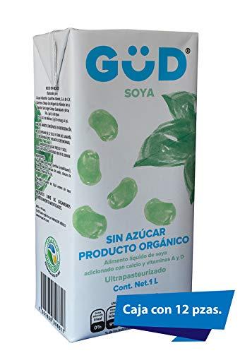 GÜD Alimento Líquido de Soya sin Azúcar Ultrapasteurizado, 12 L