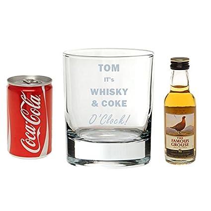 Whisky y Coca-cola o clock - bebidas con vidrio personaliseitonline