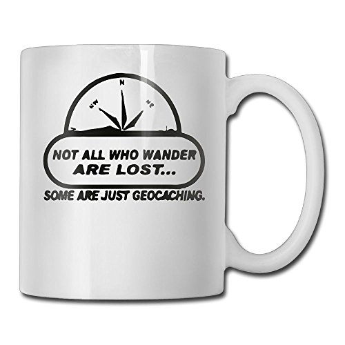 Richard Not All Wander Lost Geocaching Funny Ceramic Coffee - Northlake Stores