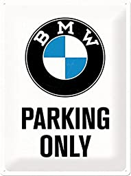 BMW Parking Only large embossed metal sign 16\