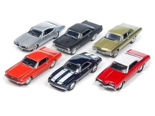 Auto World New 1:64 Johnny Lightning Collection - Muscle Cars USA - 2016 Release 2D Diecast Model Car Set of 6 ()
