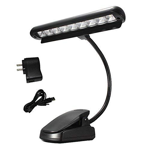 Lights & Lighting Hard-Working Super 2 Dual Arm White Led Music Stand Light Lamp New