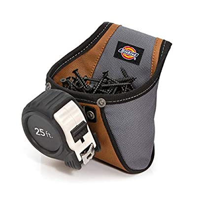 Dickies Work Gear 57101 Rigid Nail/Screw Work Pouch with Tape Measure Clip by Dickies Work Gear