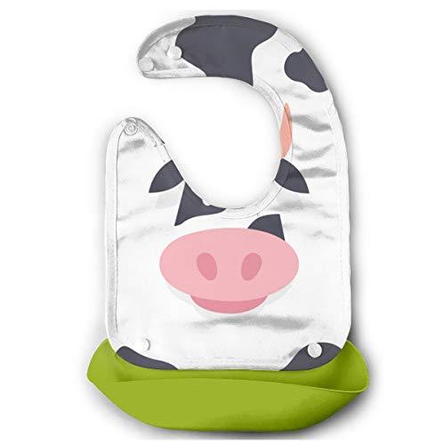 1ed39c864 Rainbowhug Cow Baby Bibs With Wide Pocket Baby Bucket Bib With Adjustable  Strap