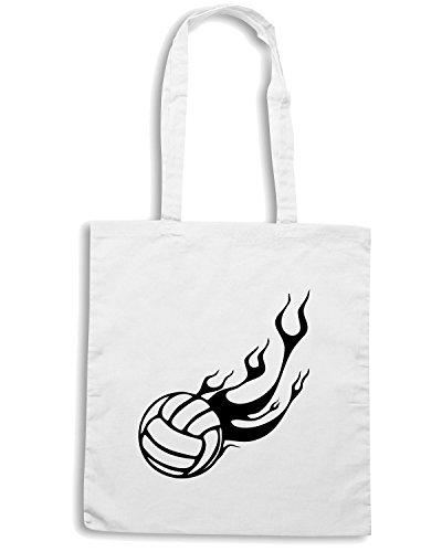 T-Shirtshock - Bolsa para la compra SP0143 Volleyball Maglietta Blanco
