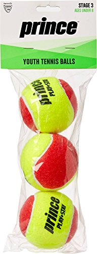 Ball Prince Tennis (Prince 3 Pack Stage 3 Youth Tennis Ball)