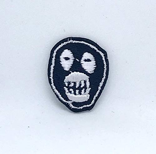 Mighty Boosh Mask Logo Small Iron on Embroidered Patch Badge GK - Patches