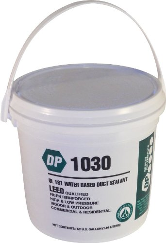 Duct Seal - Design Polymerics 1030 Water Base Duct Mastic Sealant Pail 0.50-Gallon