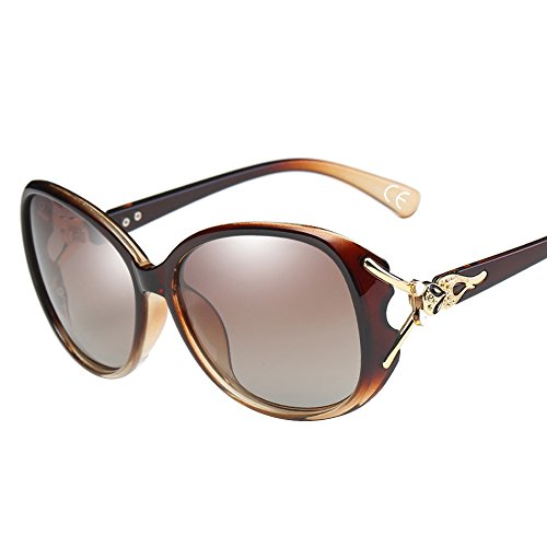 WS024 Brown de 100 Lunettes Soleil Protection UV400 BVAGSS Polarisées Lens Frame With Femmes Mode Brown AnxwYvYz