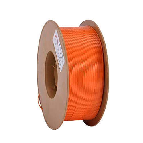 RepRapper Orange PLA 3D Printing Printer Filament 1.75 mm, Tangle Free, Modified Non-Brittle Formula, No Jamming, Dimensional Accuracy +/- 0.03 mm, 1kg Spool (2.2lbs), 340m (1115ft)