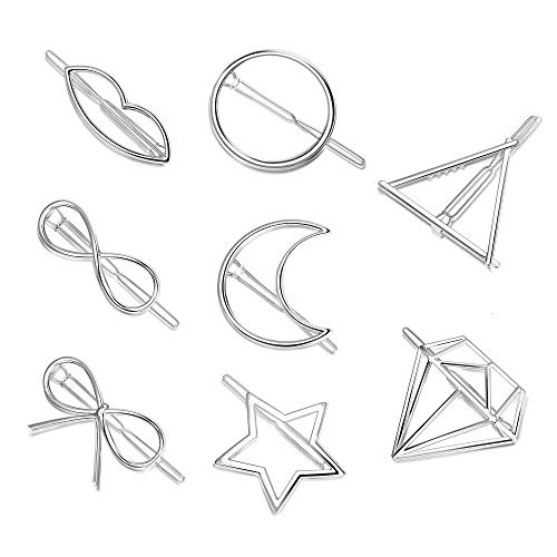 Hanpabum 8Pcs Hairpin Hair Clips Set For Women Girls Hair Accessories Minimalist Hollow Geometric Hairpin